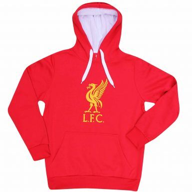 Official Liverpool FC Football Crest Hoodie (Adult Sizes S to 3XL)