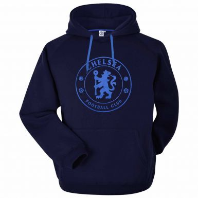 Official Chelsea FC Football Crest Hoodie (Adult Sizes S to 3XL)