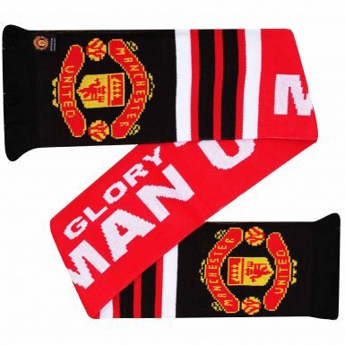 Official Manchester United Crest Soccer Fans Scarf (100% Acrylic)