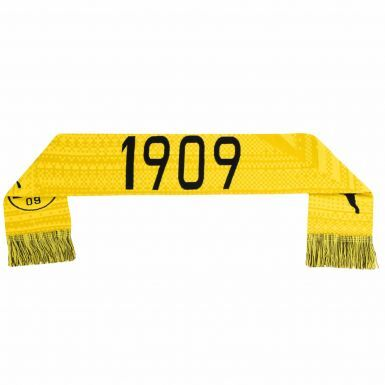Official BVB Borussia Dortmund Football Crest Scarf by PUMA