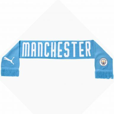 Official Manchester City Football Crest Scarf by PUMA