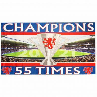 Giant Rangers 2021 Scottish League Champions Flag (5ft x 3ft)