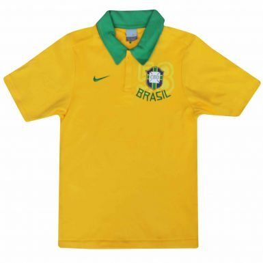 Brazil Football Crest World Cup Polo Shirt