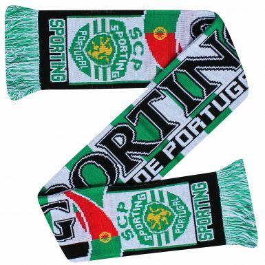 Sporting CP Lisbon Champions Scarf (100% Acrylic)