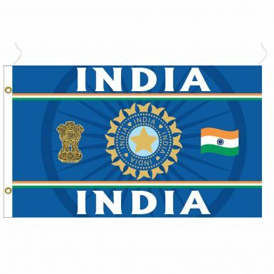Giant India Test, T20 & One Day Cricket Fans Flag (5ft x 3ft)