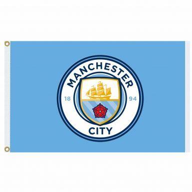 Giant Manchester City Football Crest Flag (5ft x 3ft)