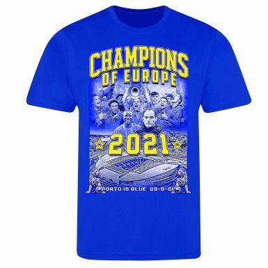 Chelsea 2021 Champions League Winners T-Shirt (100% Cotton)