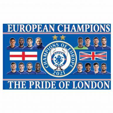 Giant Chelsea 2021 Champions of Europe Flag (5ft x 3ft)