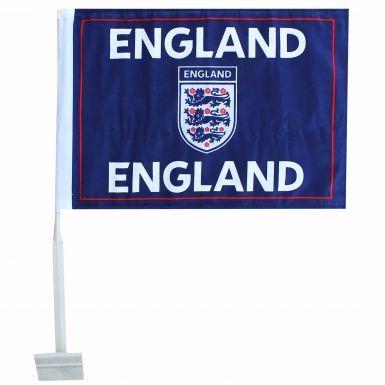 Official England 3 Lions Car Flag