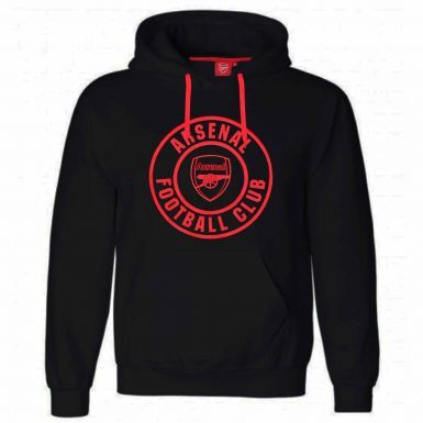 Official Arsenal FC Football Crest Hoodie (Adult Sizes S to 3XL)