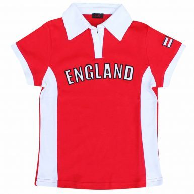 Ladies England Flag Fitted T-Shirt (100% Cotton)