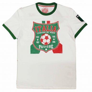 Italy (ITALIA) Football Fans Souvenir T-Shirt