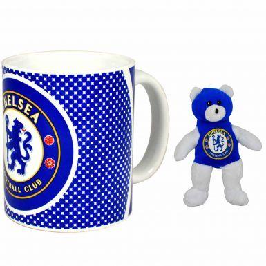 Chelsea FC Ceramic Mug & Beanie Bear Set