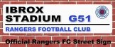 Rangers FC Ibrox Stadium Street Sign