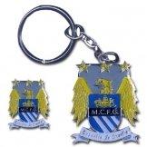 Man City Crest Keyring & Badge Set