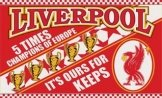 Liverpool FC Champions League Flag