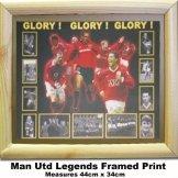 Man Utd Heroes Print Manchester United