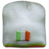 Ireland Beanie Hat with Embroided Flag