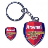 Arsenal FC Keyring & Pin Badge Set