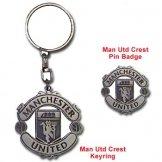 Man Utd Keyring & Badge Set Manchester United