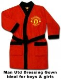 Man Utd Red Dressing Gown