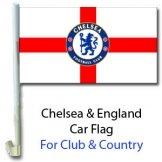 Chelsea FC & England Car Flag