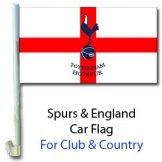 Spurs Crest & England Car Flag