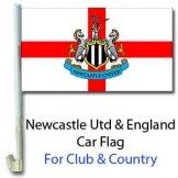 Newcastle Utd & England Car Flag