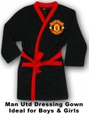Man Utd Black Dressing Gown
