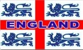 England 4 Lions Flag
