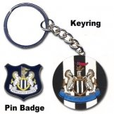 Newcastle Utd Keyring & Pin Badge Set