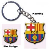FC Barcelona Keyring & Badge Set