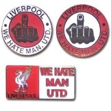 Liverpool FC-We Hate Mancs Pin Badges