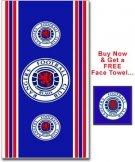 Rangers FC Towel & Free Face Towel