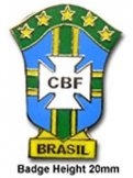 Brazil Football Pin Badge