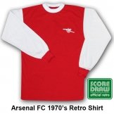 Arsenal FC 1970's Retro Shirt