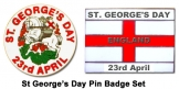 2013 St George's Day Badge Set