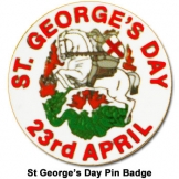 2013 St Georges Day Pin Badge