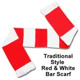Red & White Bar Scarf