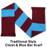 Claret & Blue Bar Scarf