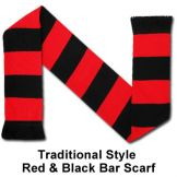 Red & Black Bar Scarf Manchester United