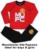 Man Utd Crest MUFC Kids Pyjamas Manchester United