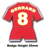 Liverpool FC Gerrard Kit Badge