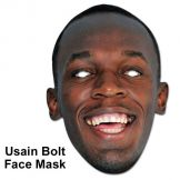 Usain Bolt Olympic Champion Face Mask