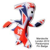 London 2012 Paralympics Mandeville Pin Badge
