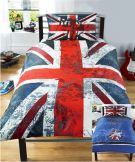 Union Jack Rock UK Reversible Single Duvet Set