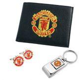 Man Utd Wallet, Cufflinks & Keyring Gift Set Manchester United