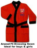Arsenal FC Crest Kids Dressing Gown