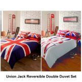 London & Union Jack Reversible Double Duvet Set