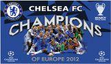 Chelsea 2012 Champions League Winners Flag